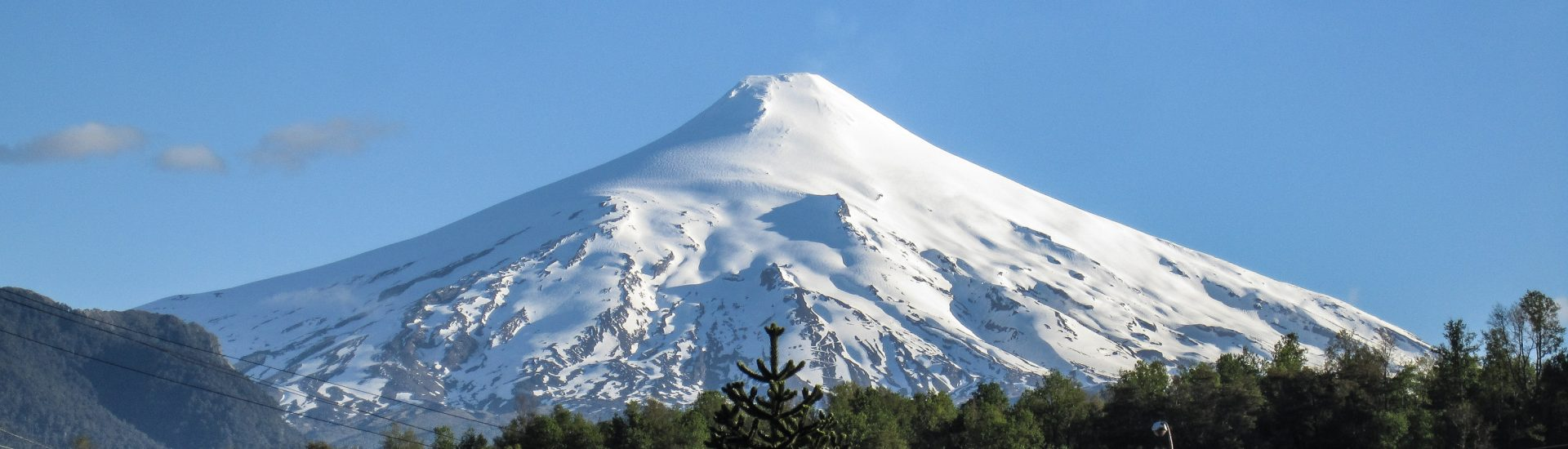 View of Villarrica Volcano from Pucon High Street