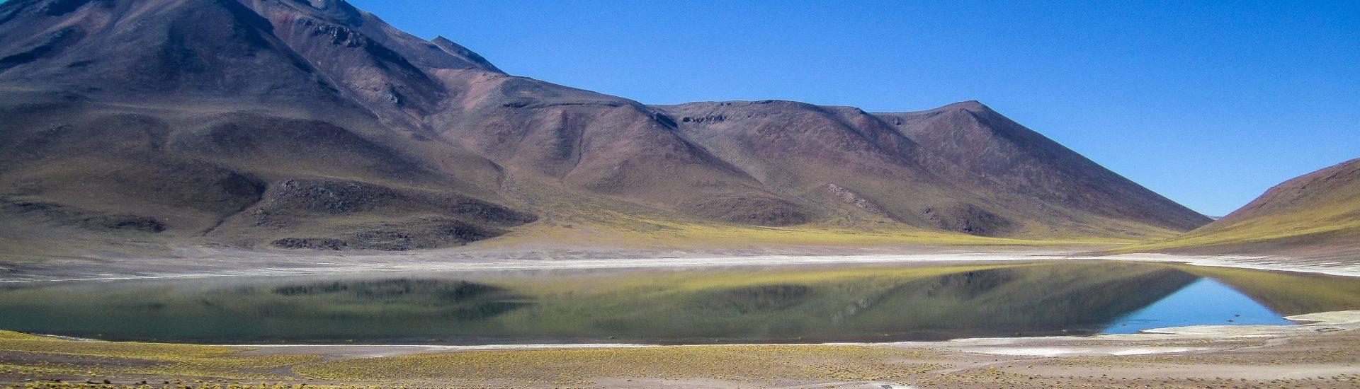 Laguana Miniques Altiplano Lake San Pedro de Atacama Desert