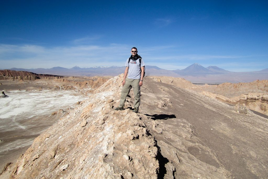 Mark at Valle de la Luna, San Pedro de Atacama