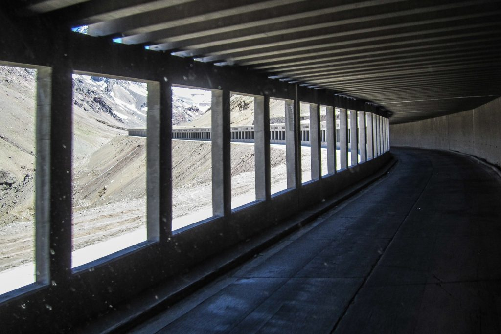 Route 60 tunnels through the Andes, Santiago to Mendoza, Mendoza to Santiago, Santiago to Buenos Aires