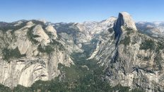 Glacier Point View across to Half Dome, overlooking Yosemite Valley