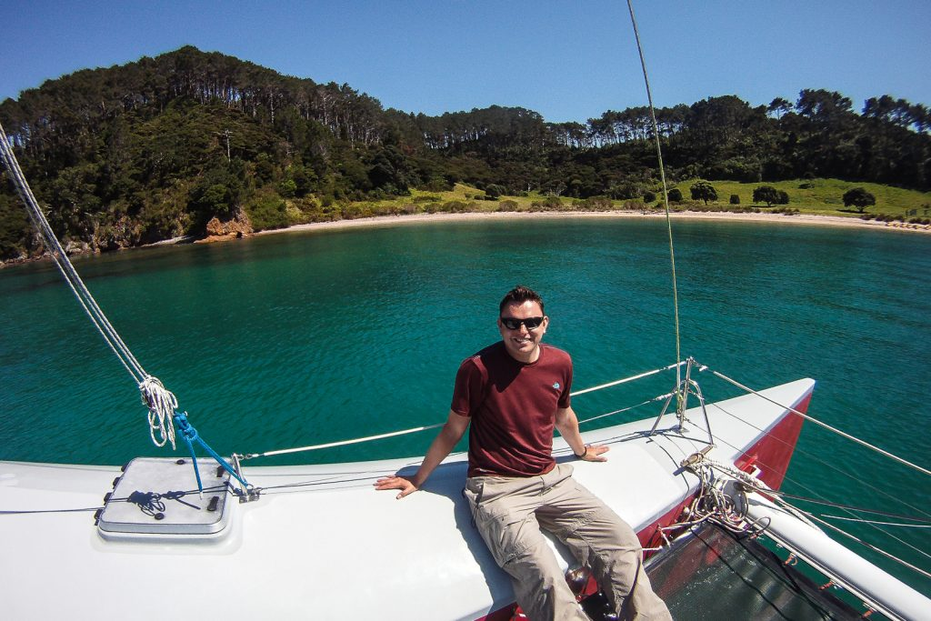 Mark at Bay of Islands. bay of islands cruise . New Zealand Travel Blog.