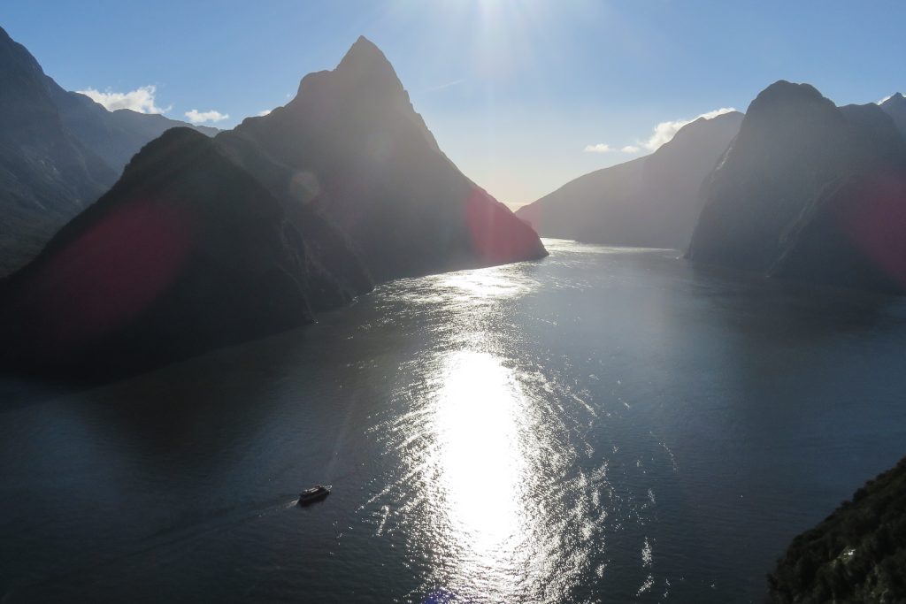 Milford Sound Fjord from a tour of Milford Sound Helicopter Flight