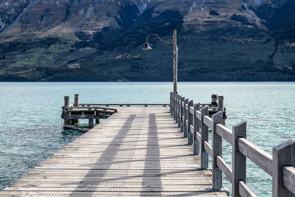 Glenorchy New Zealand, a small town at the end of Lake Wakatipu, South Island