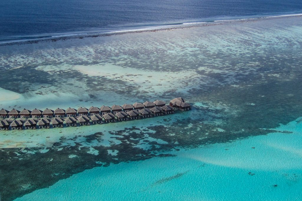 Maldives flights over LUX Dhidhoofinolhu