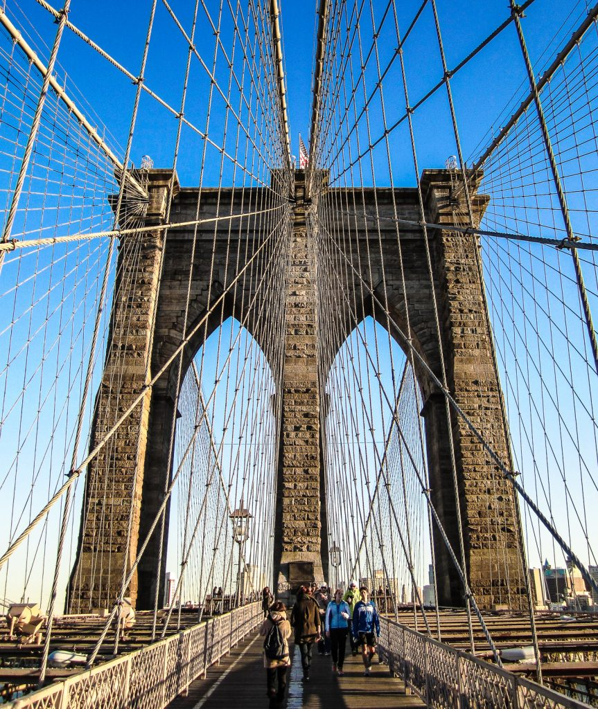Brooklyn Bridge things to do in nyc and on the new york itinerary. Flight seeing Statue of Liberty, Manhattan helicopter tours, hudson, chelsea, empire state building, central park, brooklyn bridge. One of many things to do in new york.
