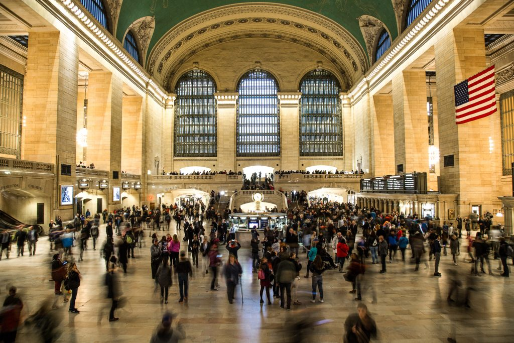 Grand Central Station things to do in nyc and on the new york itinerary. Flight seeing Statue of Liberty, Manhattan helicopter tours, hudson, chelsea, empire state building, central park, brooklyn bridge. One of many things to do in new york.