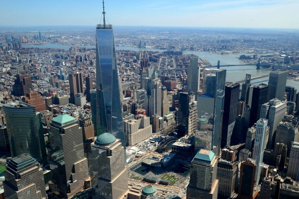 Things to do in NYC, visit the observation deck of the One World Tower and the World Trade Center Memeorial.