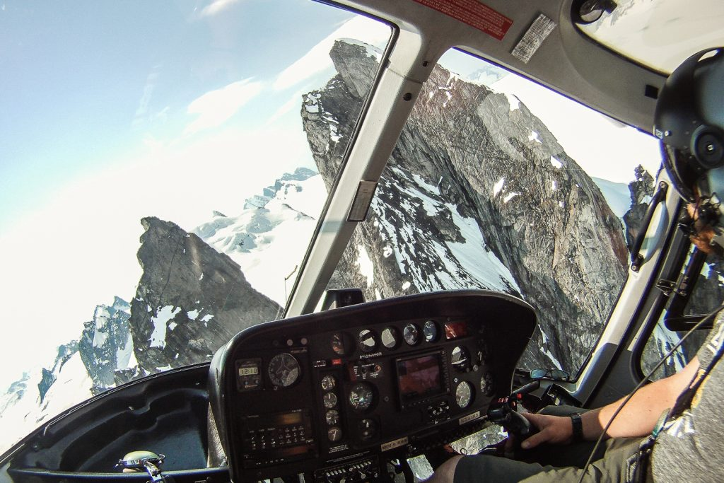 Flying above Juneau Icefield in Alaska USA. ALaska cruise and inside passage from Vancouver Seward