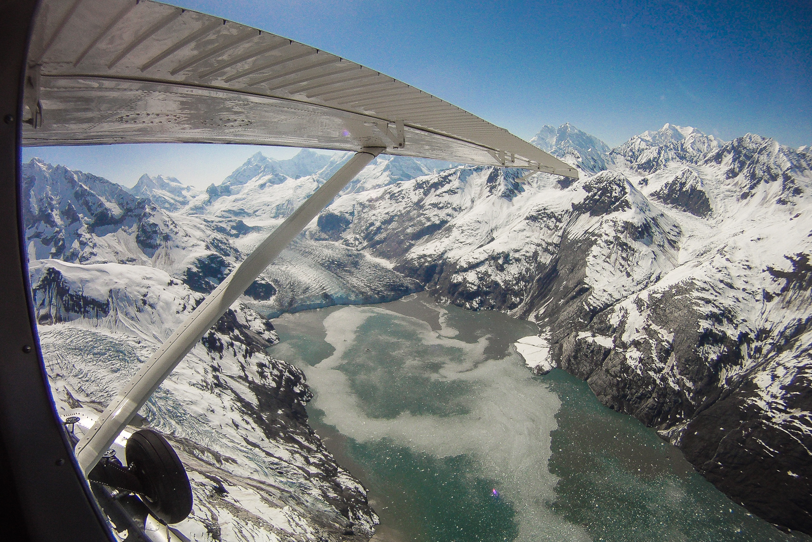 Glacier Bay Alaska Flying Over Glaciers On An Alaska Cruise
