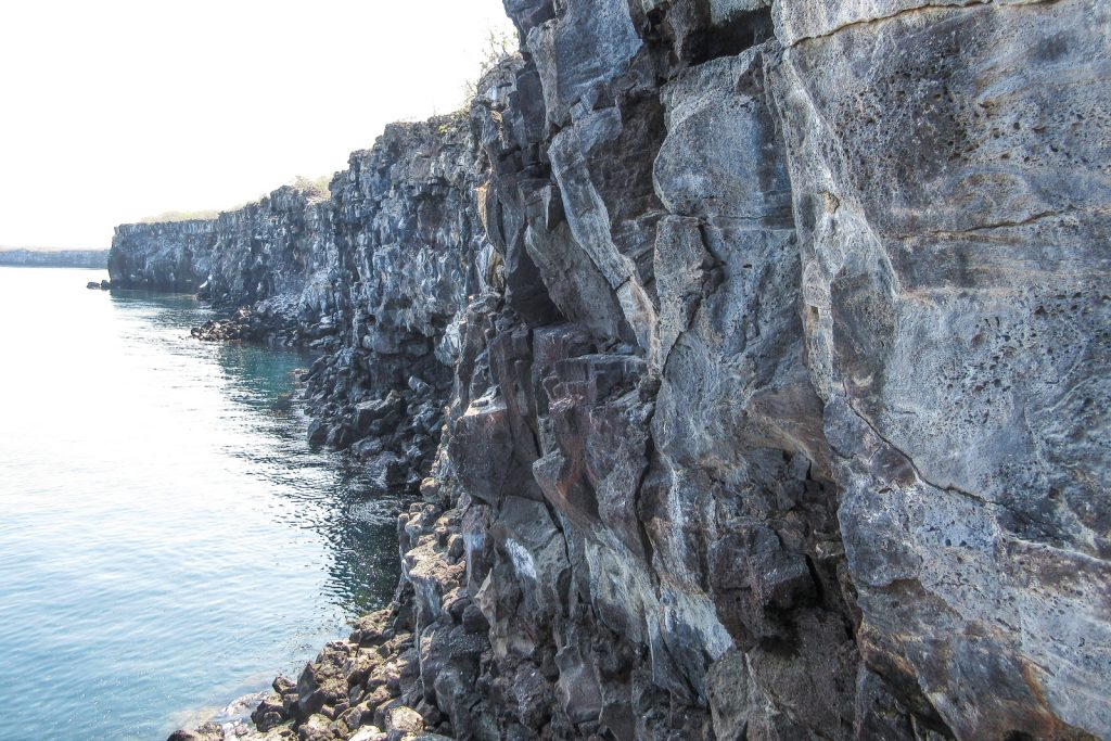 Genovesa Island; Climbing the Prince Philip steps, which is the the volcanic caldera wall in Great Darwin Bay. Isla Genovesa is visited on a galapagos cruise.