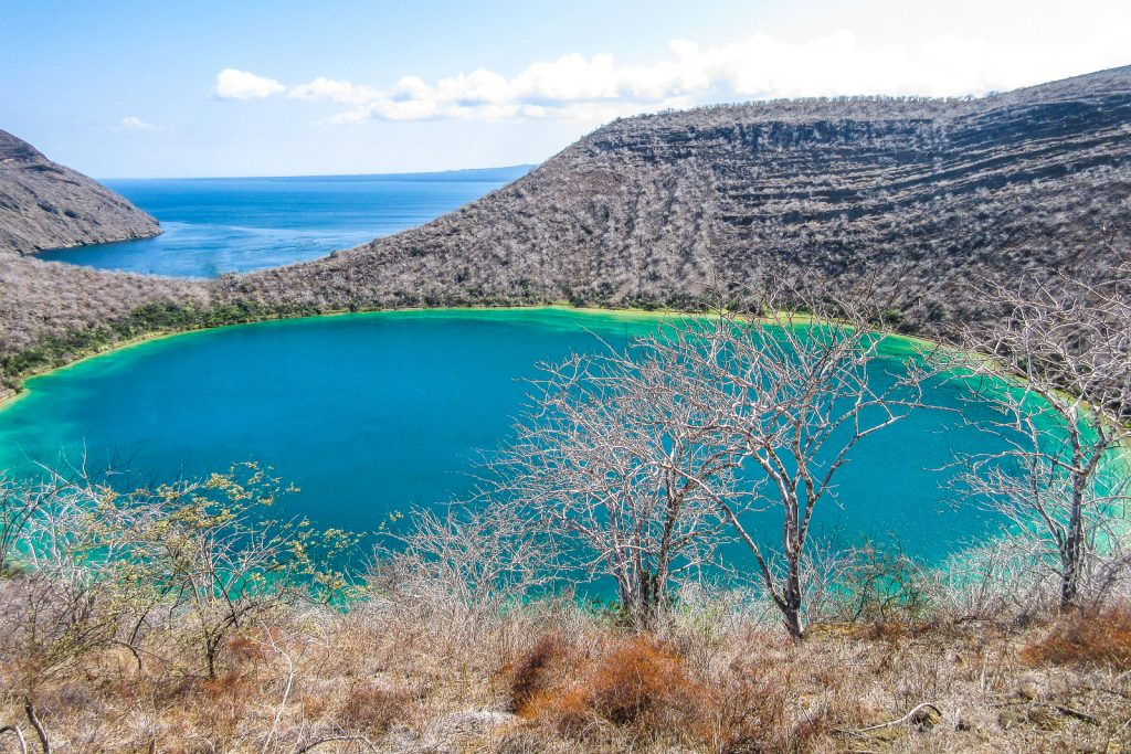 Lake Darwin, Tagus Cove on Isabela Island galpagos,