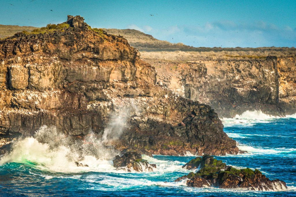 Punta Suarez cliffs on Isla Espanola in the Galapagos Islands, Ecuador