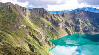 Laguna Quilotoa is a beautiful crater lake in Ecuador, South America. Laguna Quilotoa is the main highlight of the Quilotoa Loop.