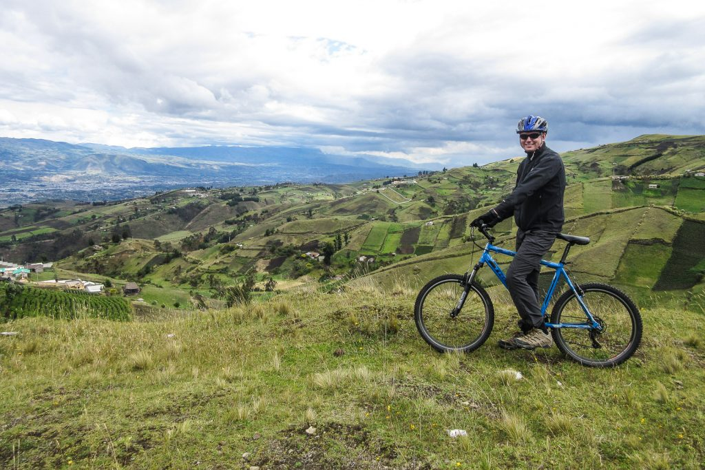 Cycling the Quilotoa loop from Laguna Quiltoa with Biking Dutchman Quito in Ecuador