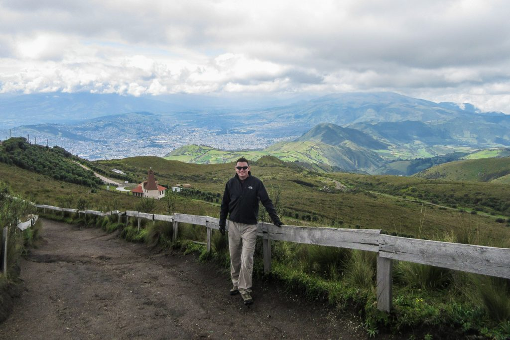 TeleferiQo cable car to the top of Cruz Loma viewpoint is one of the best things to do in QUito Ecuador.