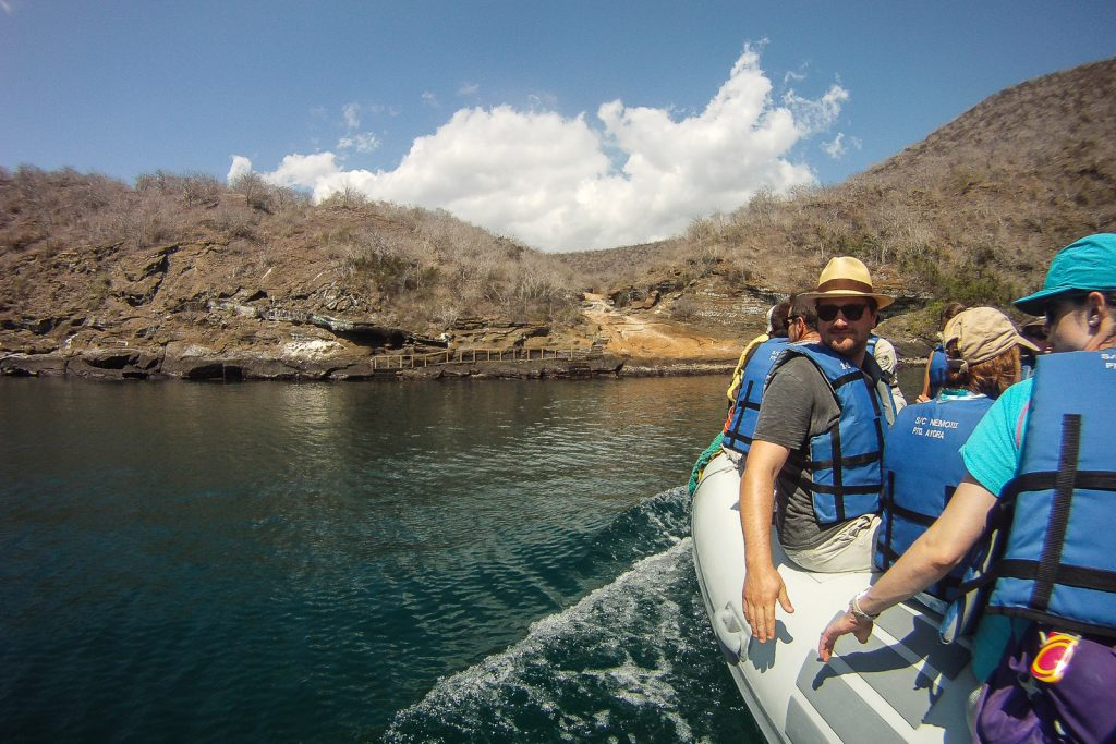 Arriving on Isabela Island at Tagus Cove in the Galapagos Islands