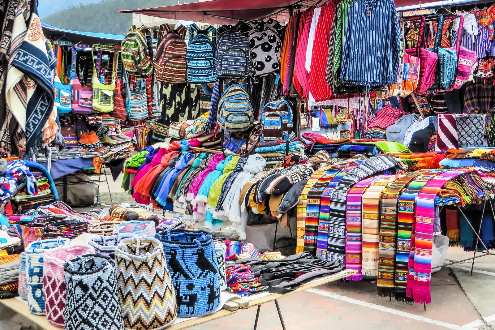 Things to do in Ecuador, visit the crafts market at otavalo Market in Otavalo Ecuador. One of the top places to visit in Ecuador
