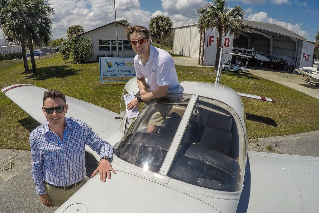 Pilot Mark from Flying and Travel with Pilot Oli from Pilots Paradise. At the Pilots Paradise base at Sebastian Airport in Florida. Pilots Paradise offer aircraft rental to the Bahamas, FLight Training, Bahamas Charter Flights, FLights to North Eleuthra. flights to bahamas, flights to north eleuthera, florida to bahamas flights bahamas charter flights, cat island bahamas flights, san salvador bahamas flights flight to san salvador bahamas, flights to cat island from florida