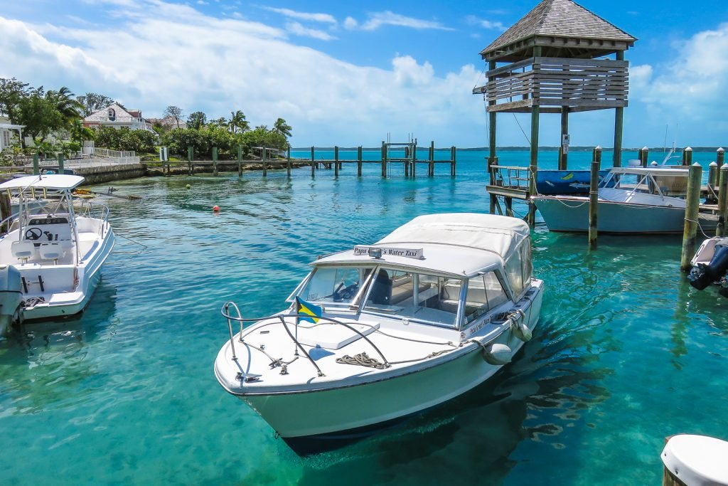Take the water taxi from North Eleuthera to get to Harbour Island Bahamas. Water taxis can pick you up from the main harbour at Dunmore Town or the Marina at Valentines Resort. USe the water taxi service to get to North Eleuthra Airport for your North Eleuthra flights.