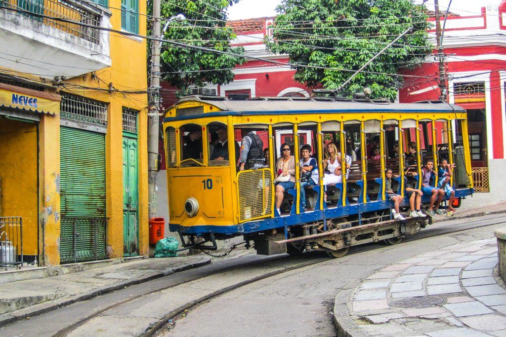 The Santa Teresa Tram in Rio de Janeiro Brazil