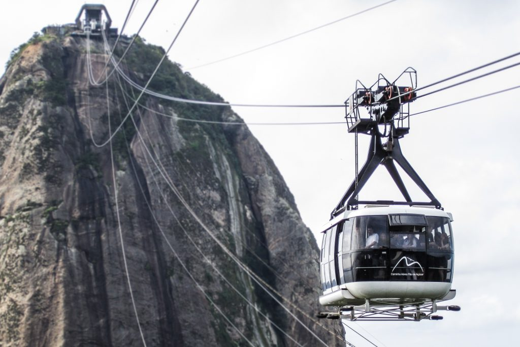 Sugar Loaf mountain rio de janeiro cable car allows you to travel to the top of the Sugarloaf with views across to the corcovado Christ the Redeemer