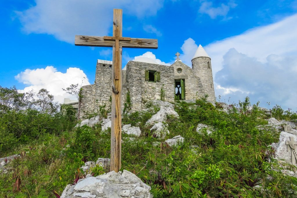 The Hermitage, Cat Island is built on the top of Mt Alvernia, the highest point in the Bahamas Islands.