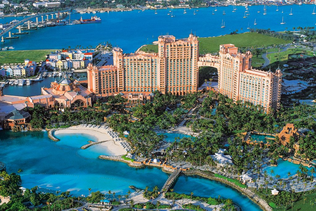 Things to do in Nassau Bahamas; Atlantis hotel and property. ©Bahamas Ministry Of Tourism