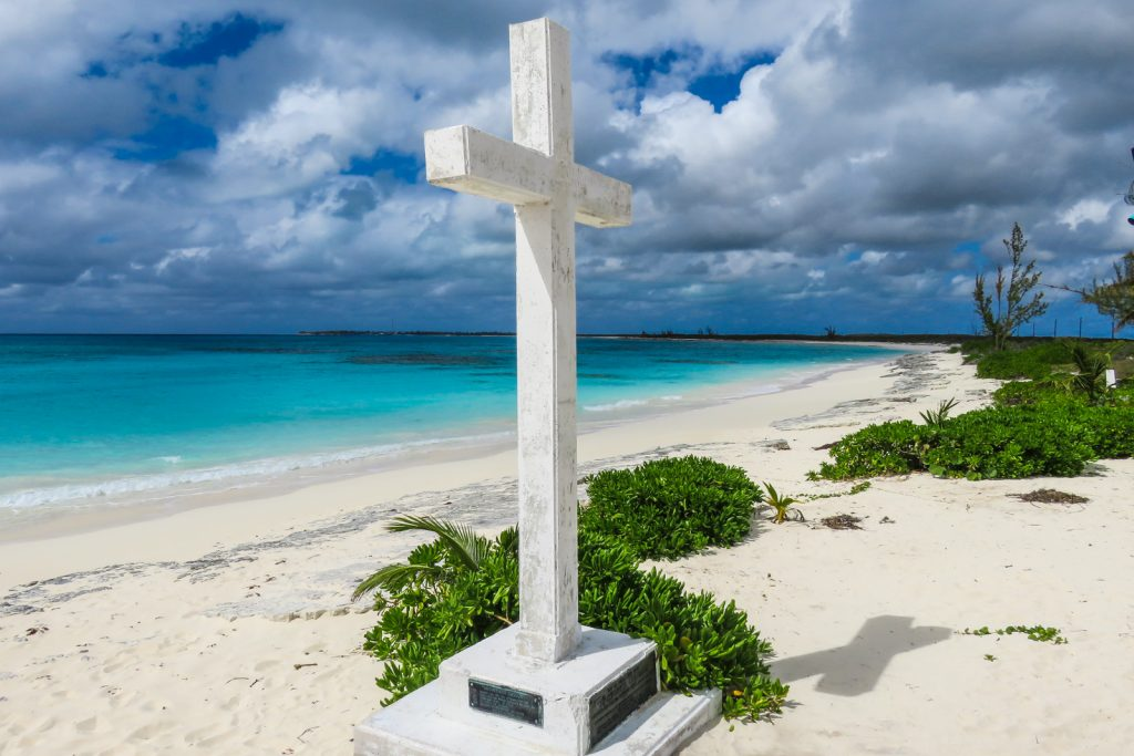 Things to do in Bahamas, The Columbus Monument, San Salvador Island. Commemorates when Christopher Columbus first landed in 1492 on his quest to discover the New World. San Salvador is one of the Bahamas Out Islands and should be visited on your Bahamas Vacation