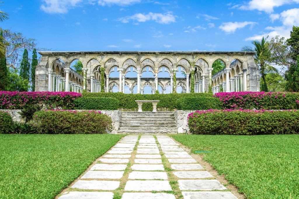 Things to do in Nassau Bahamas. Versailles Gardens, fountains and statues with sculpted gardens on Paradise Island, Nassau. New Providence. ©Bahamas Ministry Of Tourism