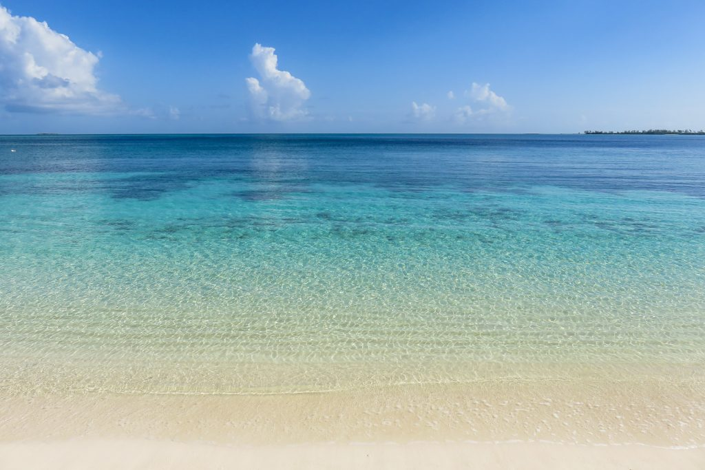 Cable Beach in Nassau Bahamas on New Providence Island. Top things to do in Nassau Bahamas.