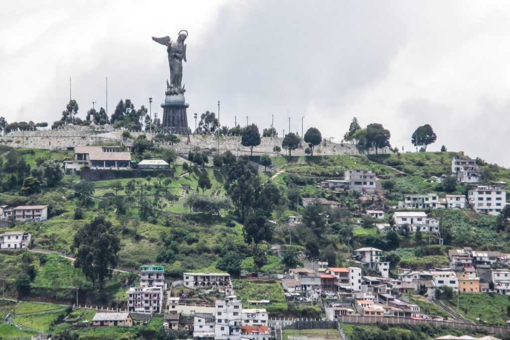 Things to do in Quito, visit the El Panecillo and the statue of La Virgin de Quito, with panormica views across the Quito city Skyline