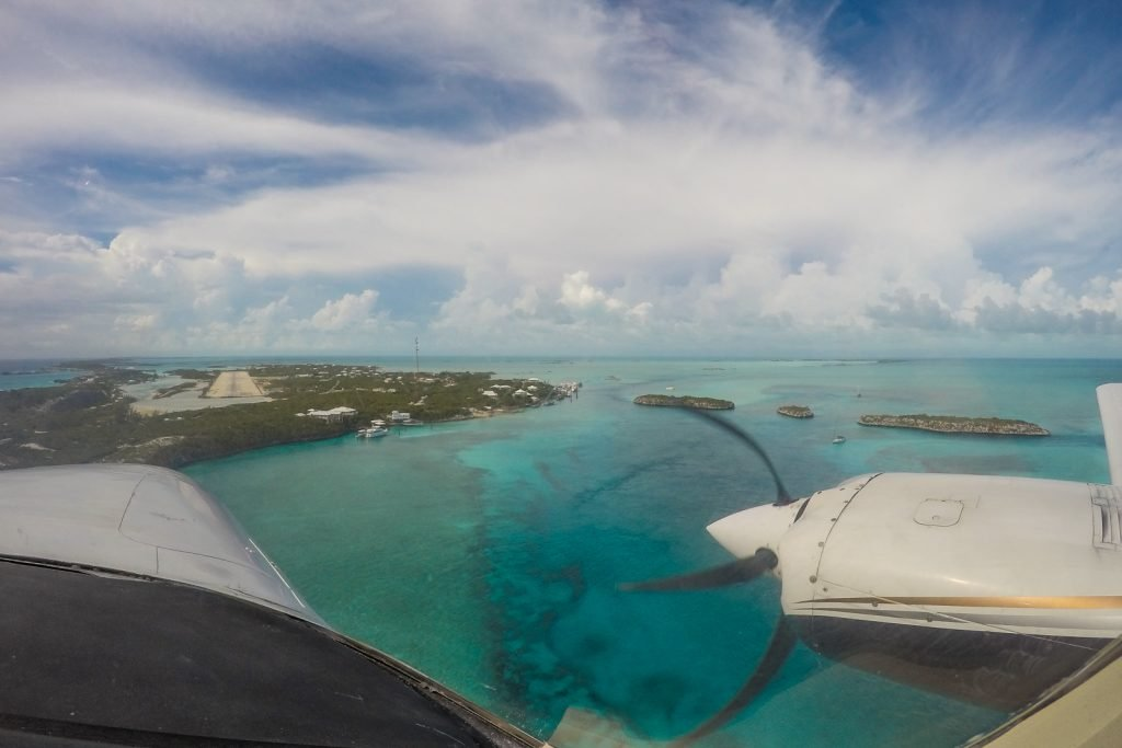 Flamingo Air flights, Nassau to Staniel Cay, Bahamas Flights.