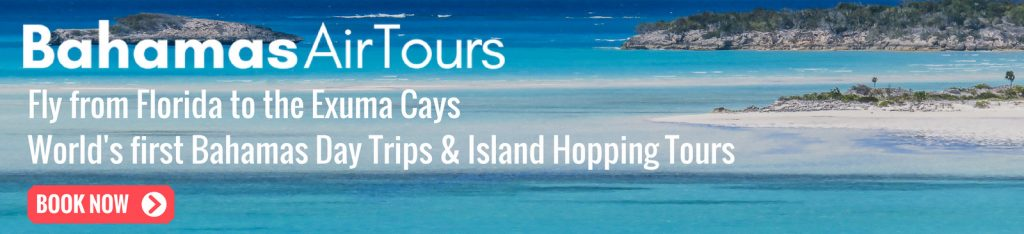 Flights to Bahamas with Bahamas Air Tours from Florida to the Exuma Pigs, Swimming Pigs, Staniel Cay, Exuma Cays, James Bond Thunderball Grotto and Compass Cay. Bespoke ISland Hopping Tours across the Bahamas Out Islands by Plane.