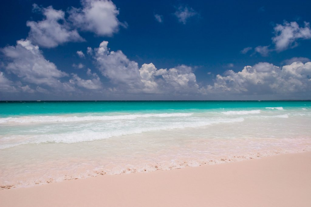 Pink Sands Beach In Harbor Island Bahamas Air Tours Provides Flights From Florida To