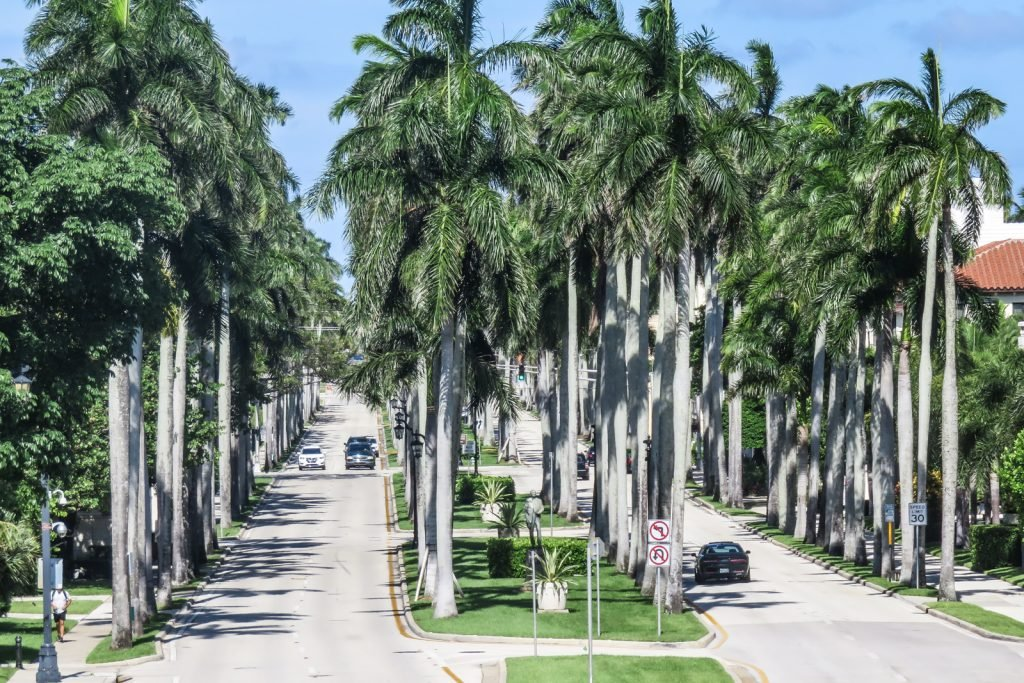 Royal Palm Way runs across Palm Beach Island;. Things to do in West Palm Beach.