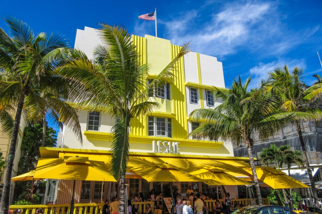 Things to do in MIami Beach, a tour of South Beach Art Deco Leslie Hotel and south beach classic cars collection