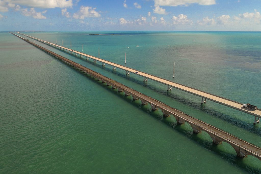 Things to do in Miami, day trip to the Florida Keys and Key West. Seven Mile Bridge in the Florida Keys