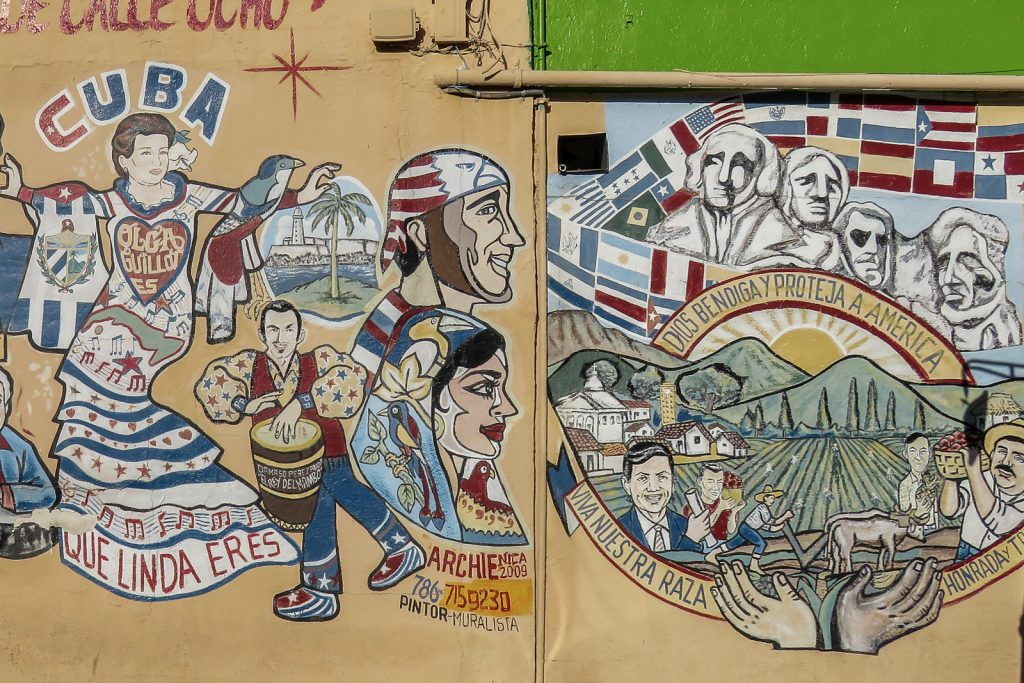 Little Havana Miami, visit the small slice of Cuba in Little Havana. Things to do in Miami. Outdoor Murals.