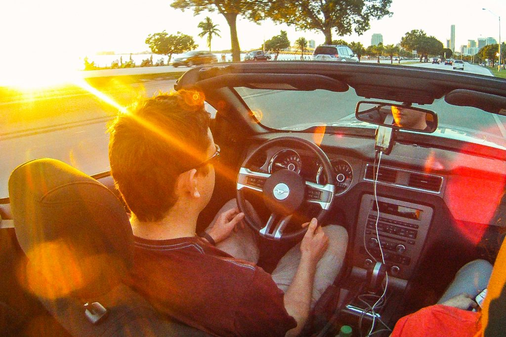 Things to do in Miami, Mustang Convertible Sunset