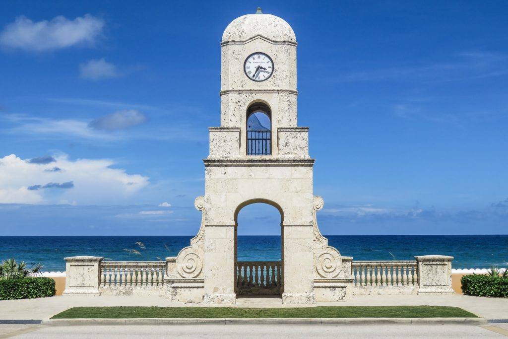 Visit the clock tower at the end of Worth Avenue. Things to do in West Palm Beach