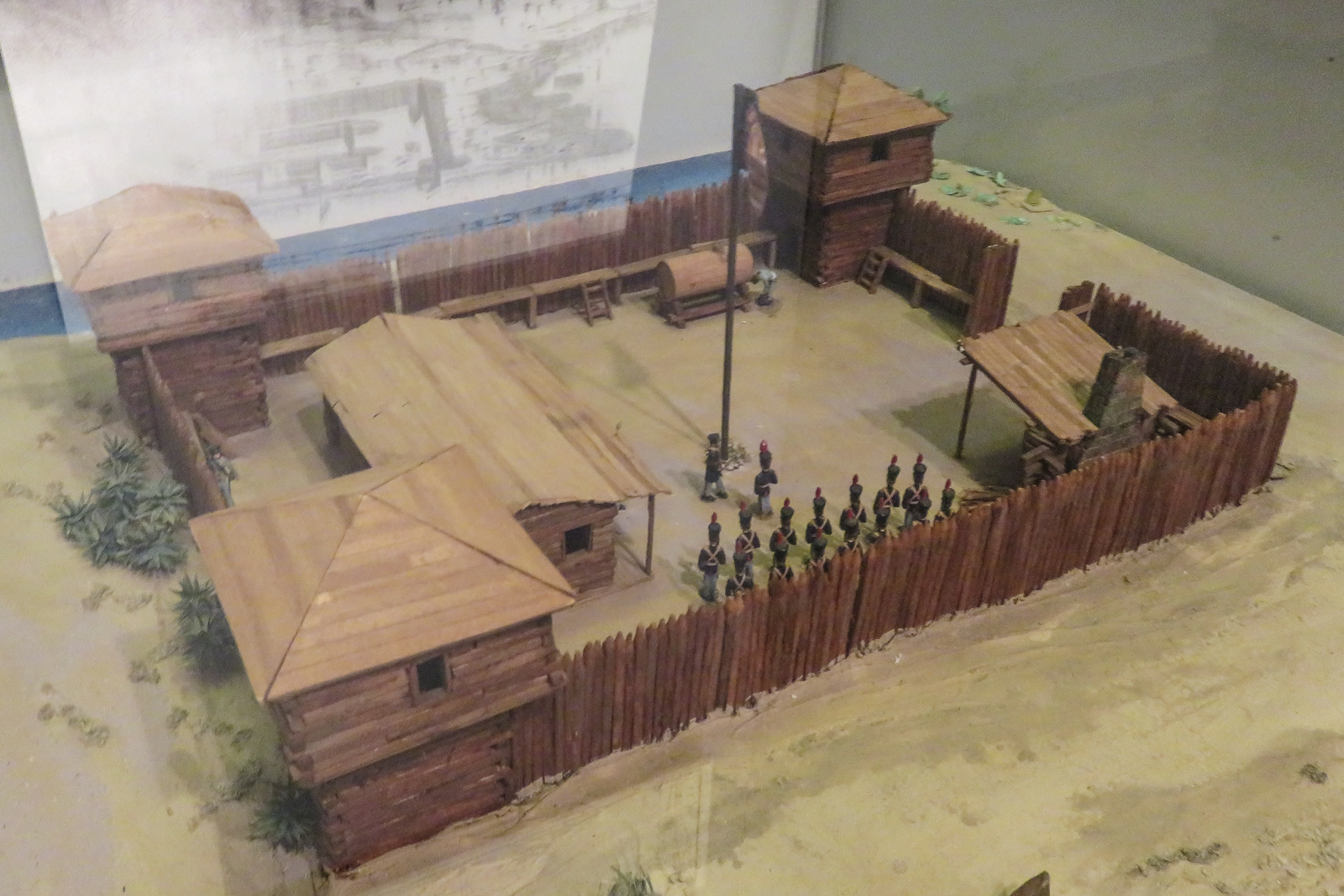 Model of one of the original 3 Forts located in Fort Lauderdale. Named after Major Lauderdale during the Seminole wars.
