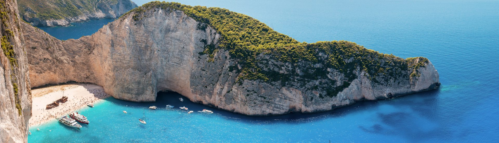Things to do in Zakynthos Greece, zante, st denis church and the Navagio beach in Zakynthos Greece. Amazing panoramic view of Navagio Bay, Zakynthos, Greece