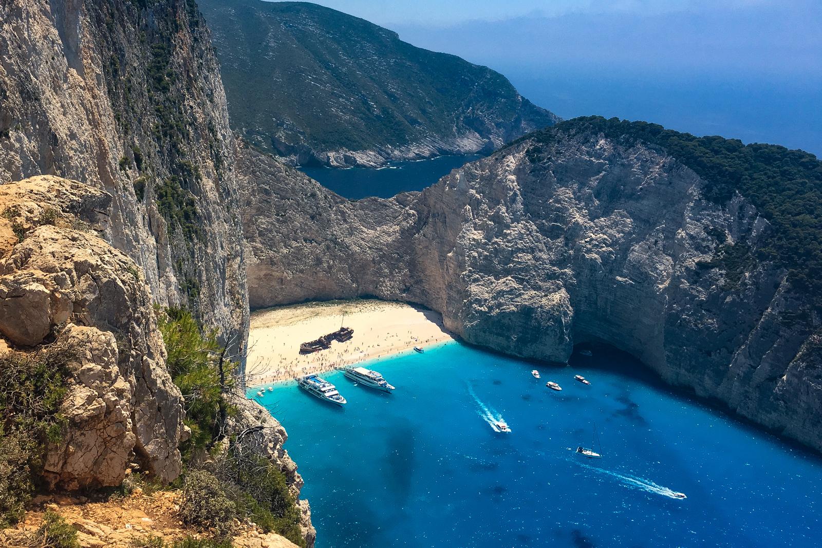 Things to do in Zakynthos Shipwreck Island View Kalamaki Beach