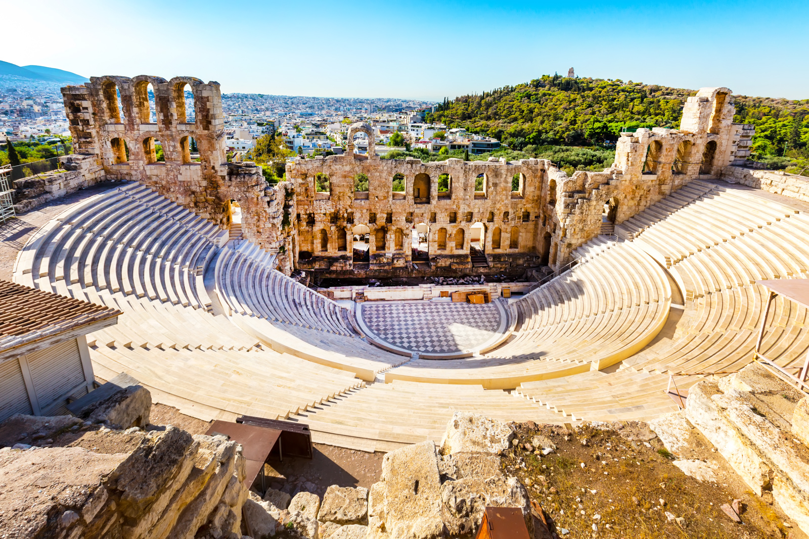 Things to do in Athens landmarks like the Ancient Amphitheater of Acropolis of Athens, landmark of Greece