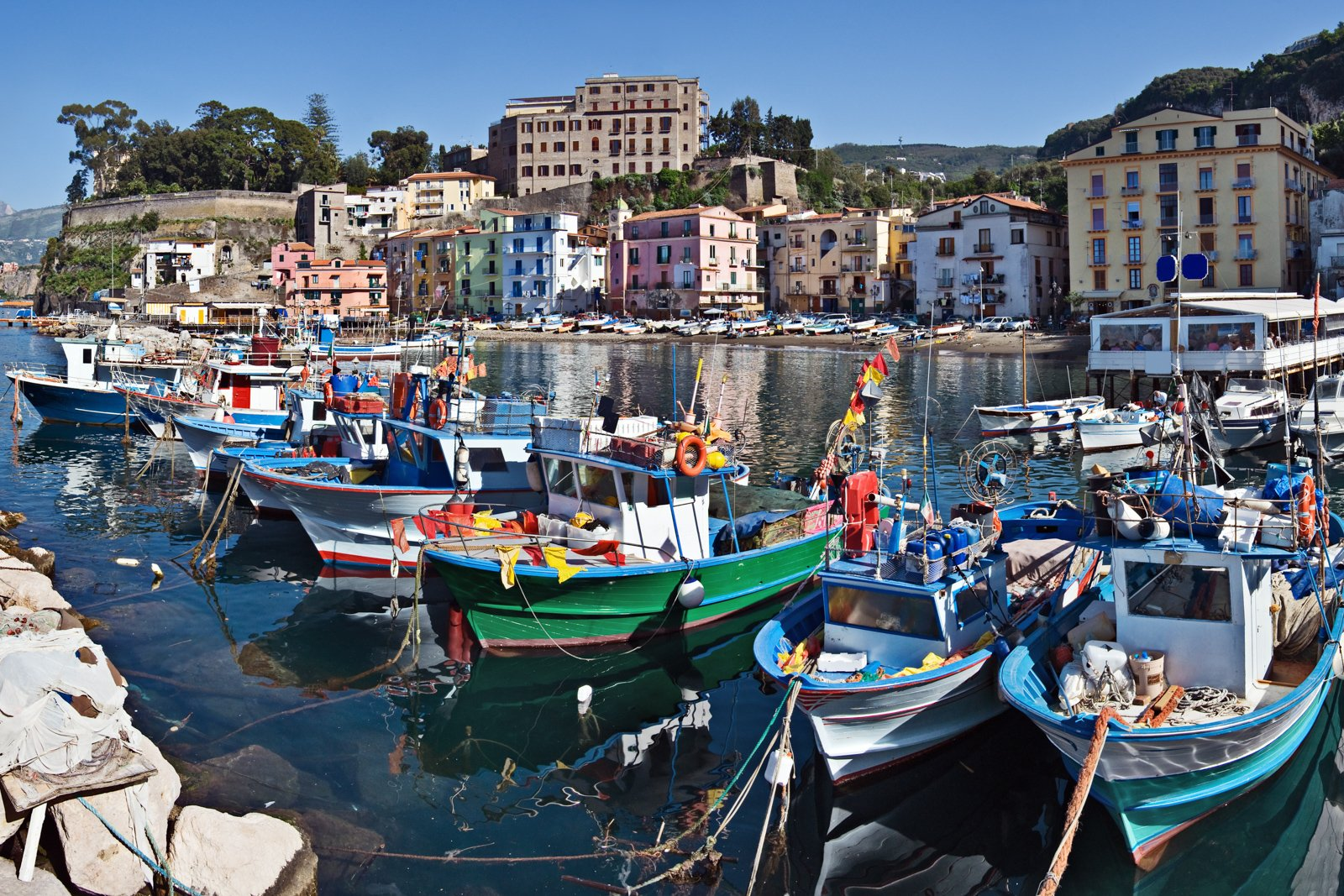 Top things to do in Amalfi Coast tour at the Marina Grande (big marina), Sorrento, Italy