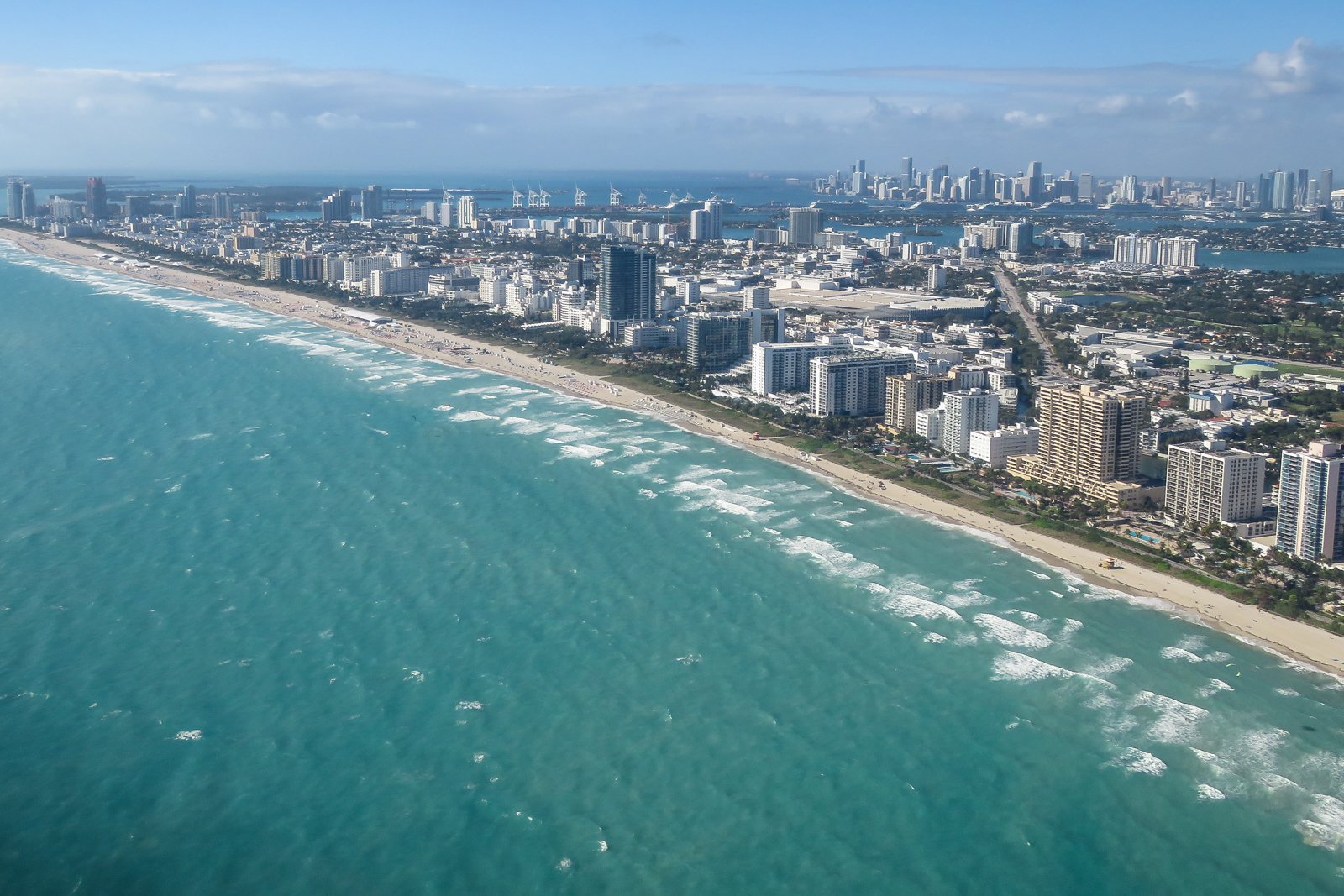 Top things to do in Miami: take a Miami Air Tour and see South Beach and the city from the air. Fly along south beach at 500ft on a Miami flightseeing tour by plane.