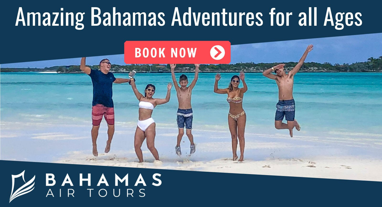 Bahamas Day Torus Family enjoying thei Day trip with Bahamas AIr Tours in the Exuma islands