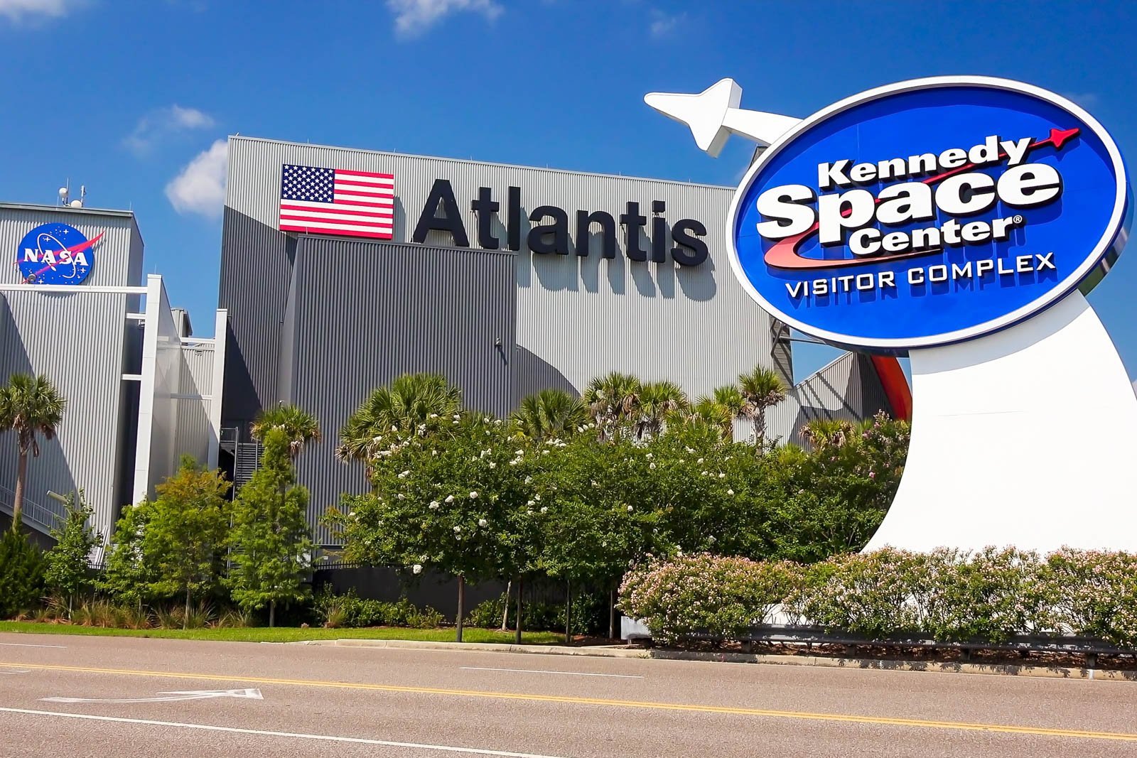 NASA Kennedy Space Center Visitor Complex at Cape Canaveral, Florida. Whether with family or friends, it is amonth the most educational and best places to go in Florida.