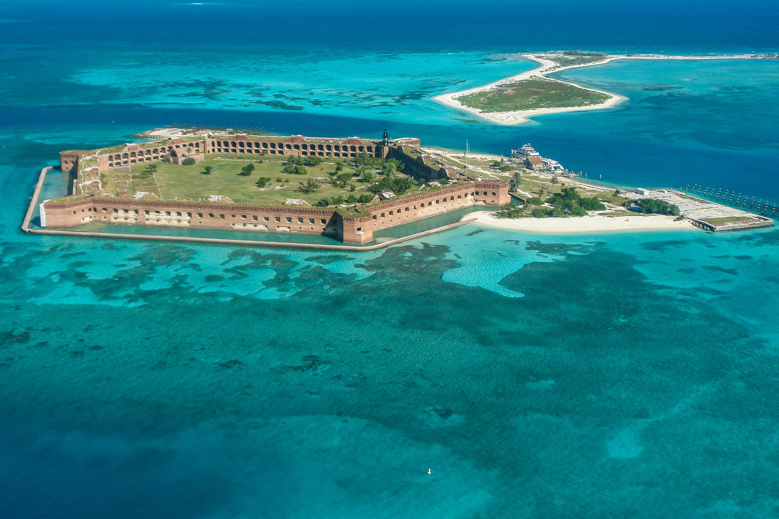 Aerial Views in Dry Tortugas National Park. The Tortugas in the Florida Keys are among the best things to do in Florida.